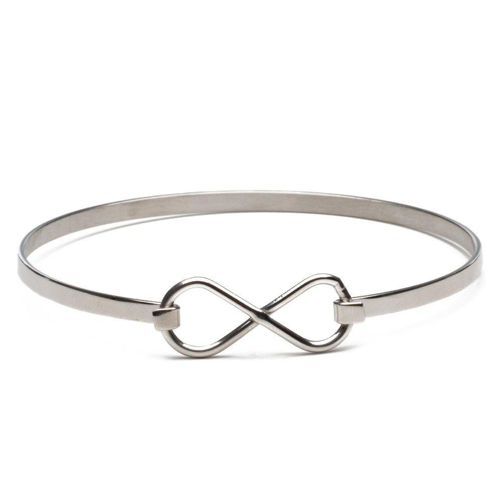 Pulseira Feminina Infinity Silver
