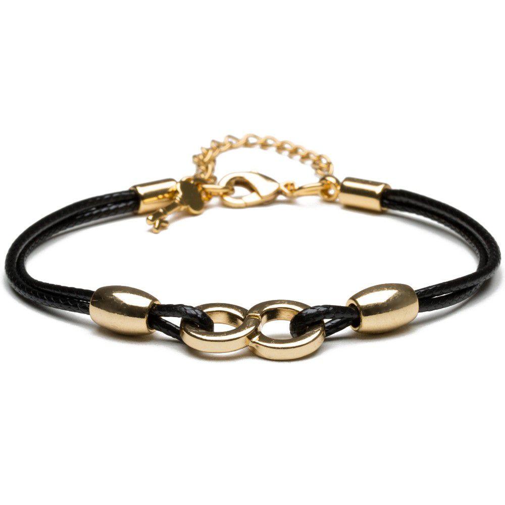 Pulseira Feminina Thin Black Infinity