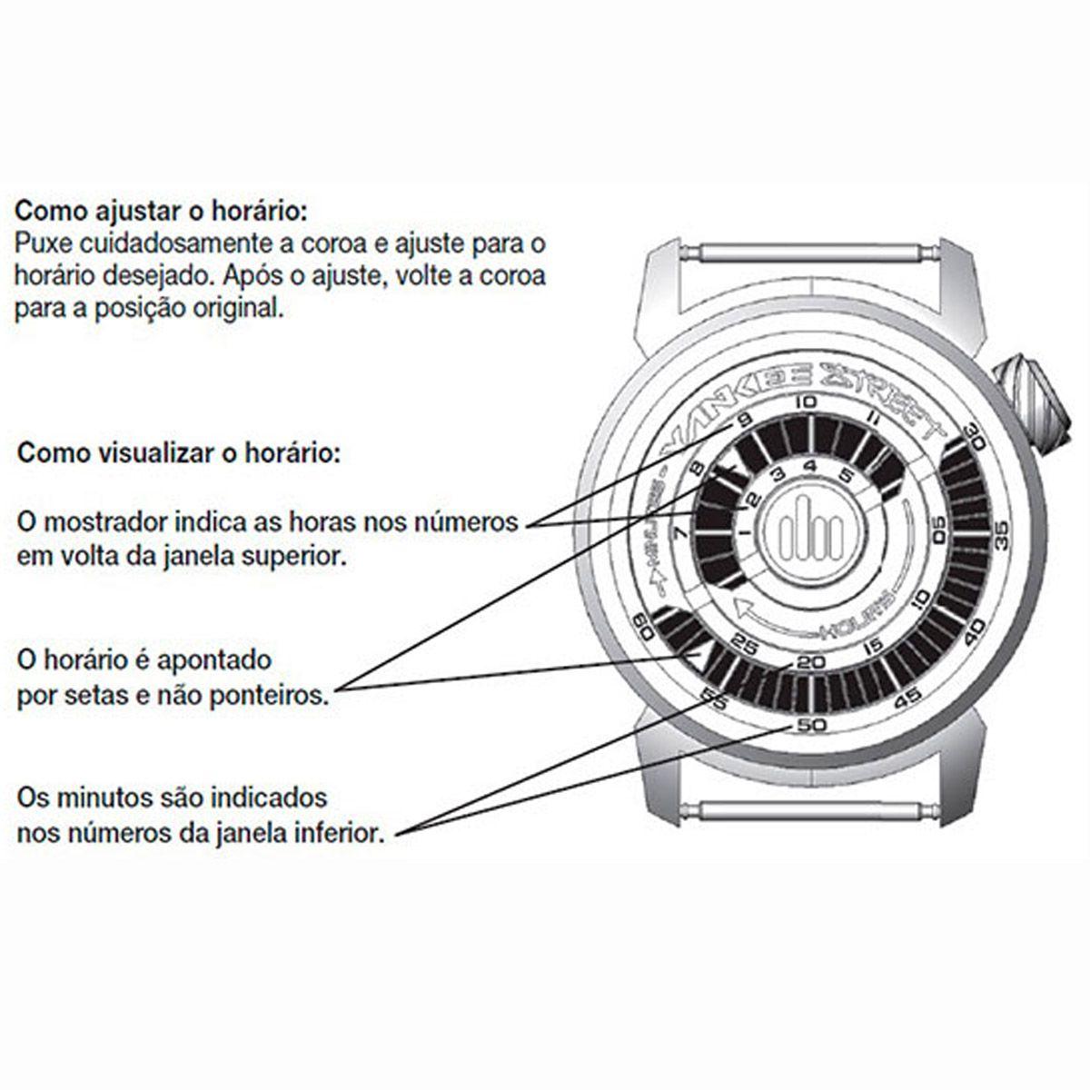 Relógio de Pulso Feminino Black Angels YS38285B