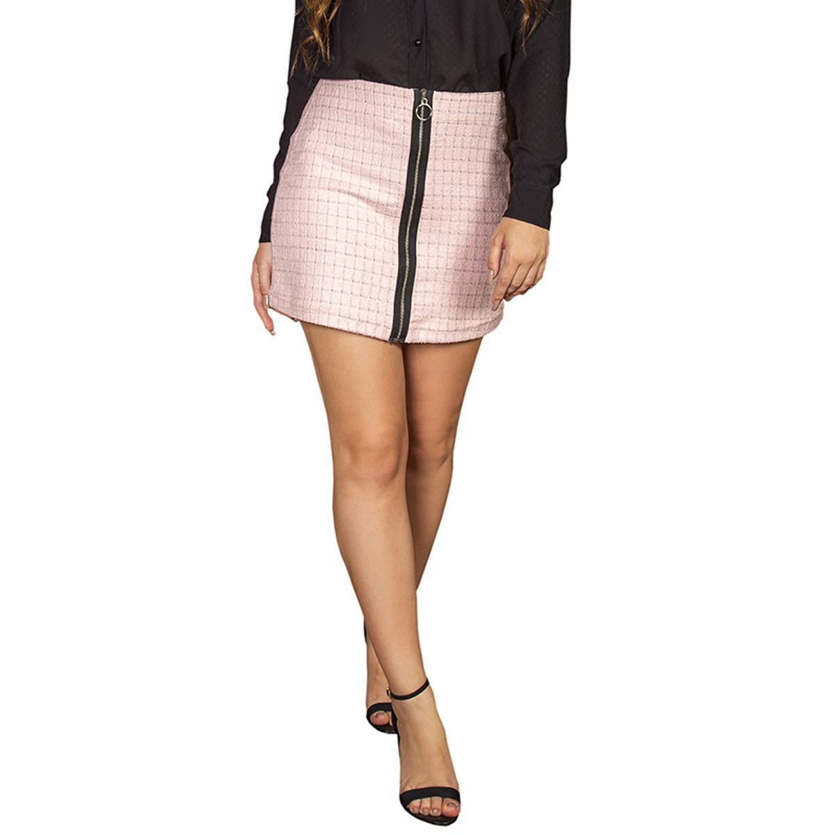 Saia Tweed Chanel Xadrez
