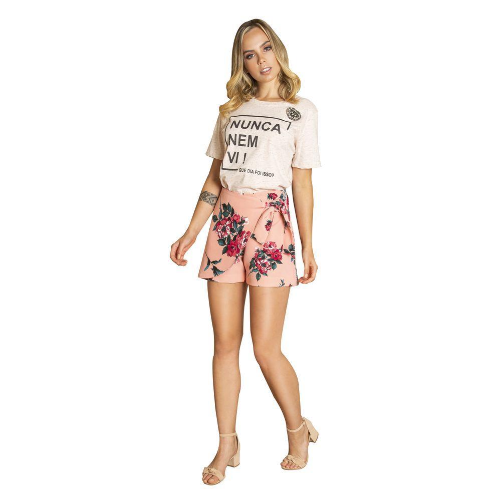 Short saia estampado