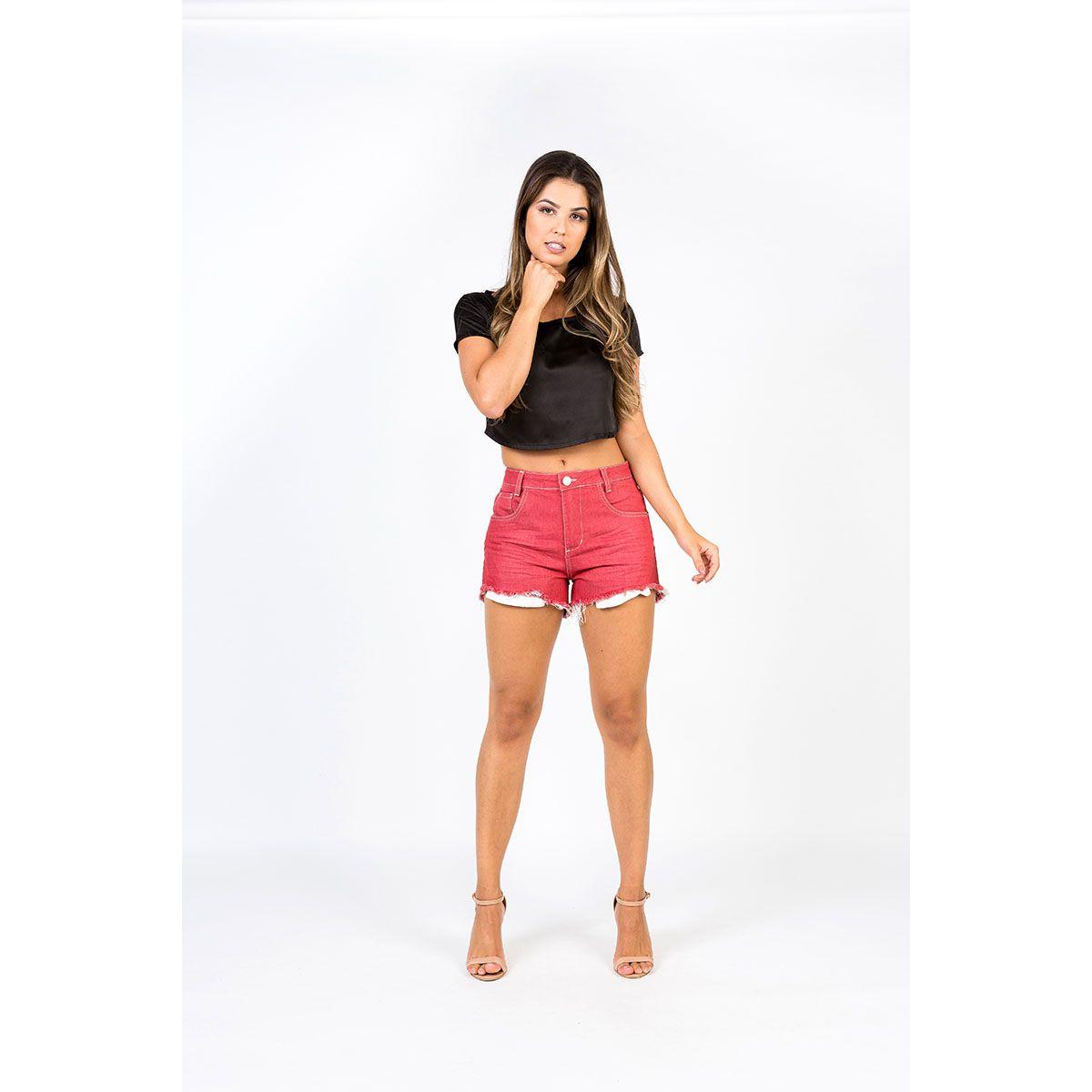 Shorts Hot Pants Vermelho