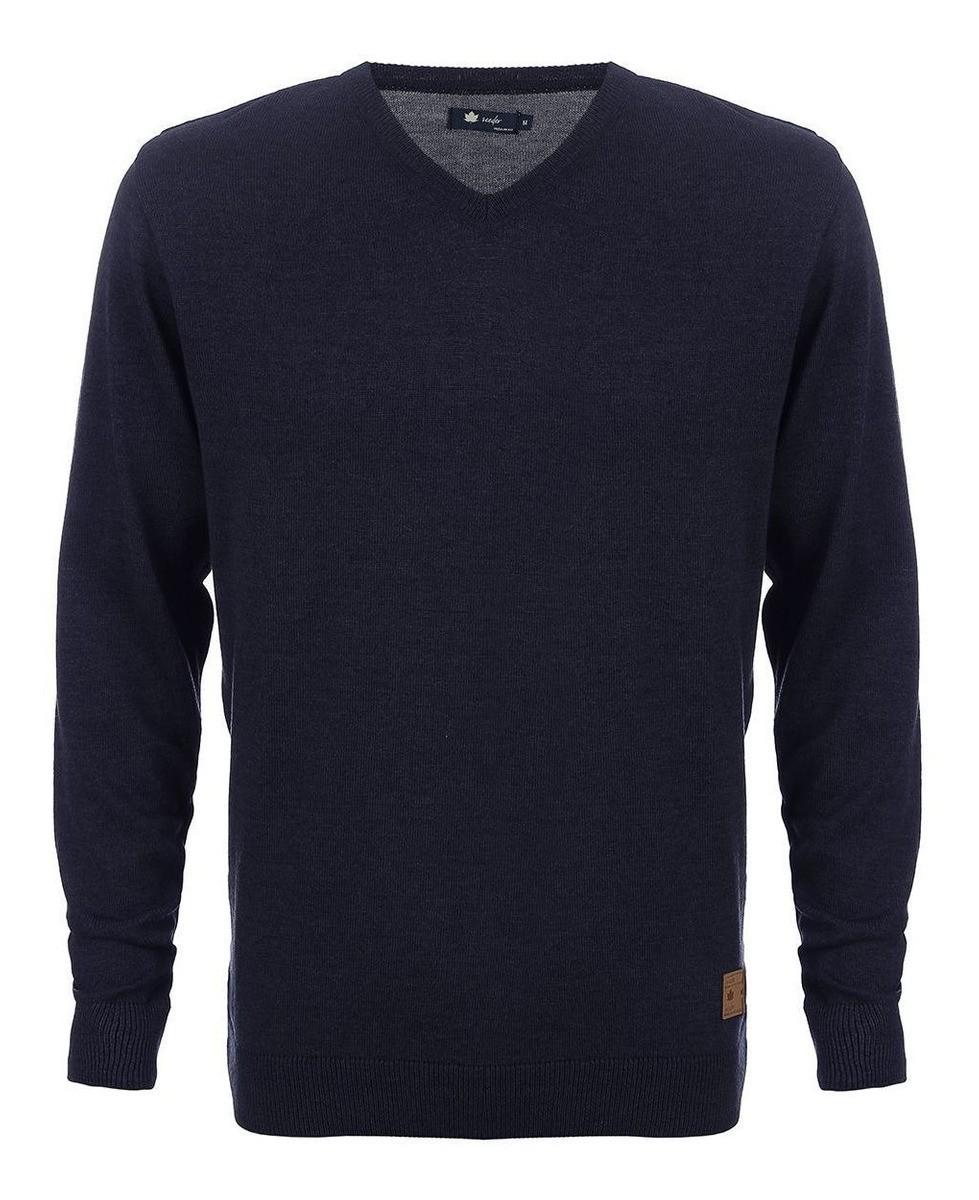Suéter Seeder Gola V Liso Azul