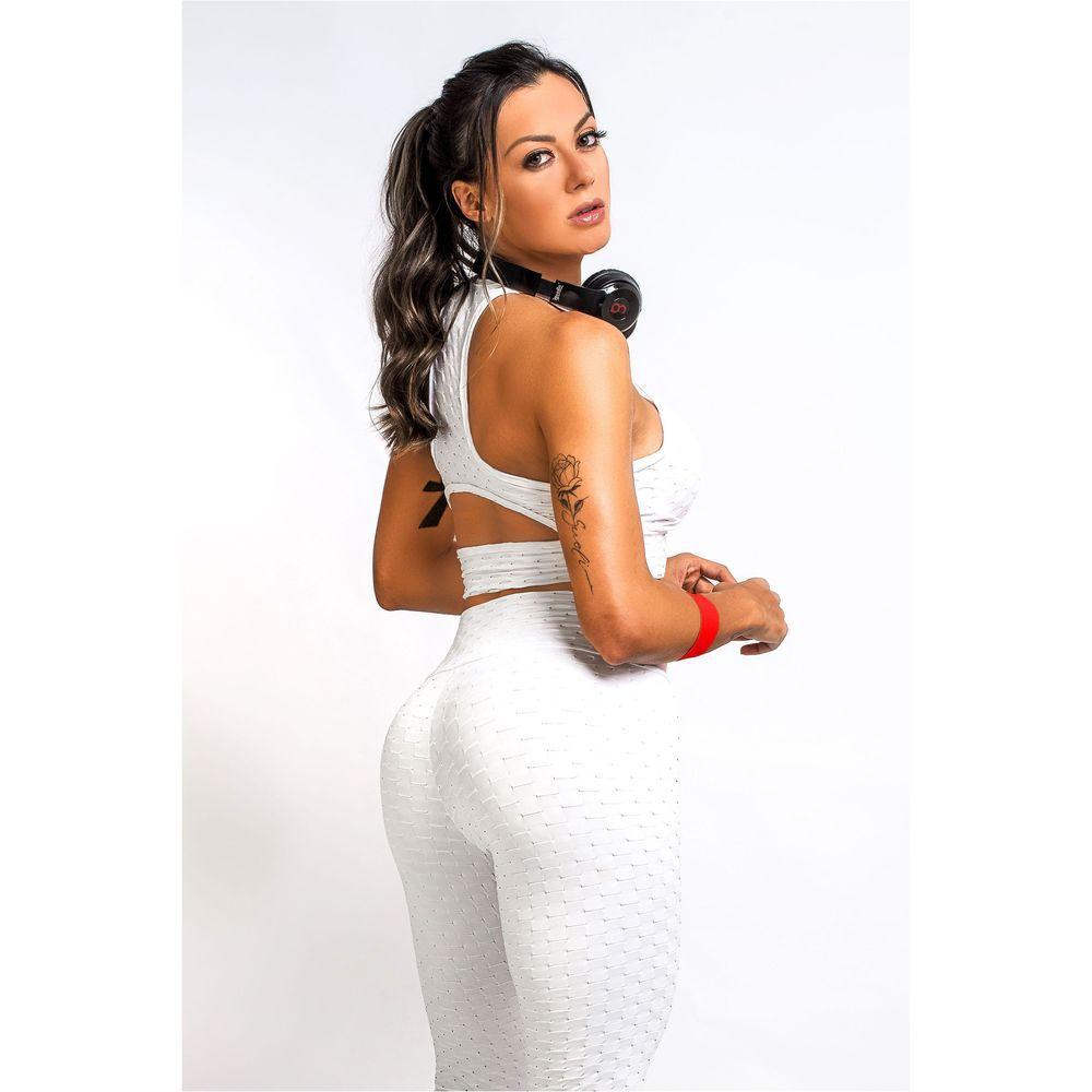 Top Fitness Feminino Branco com Bojo Winner