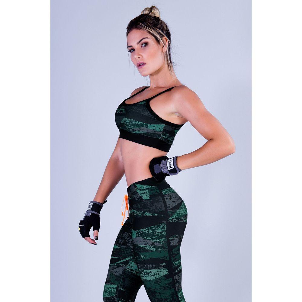 Top Fitness Feminino com Estampada Sublimada Masked