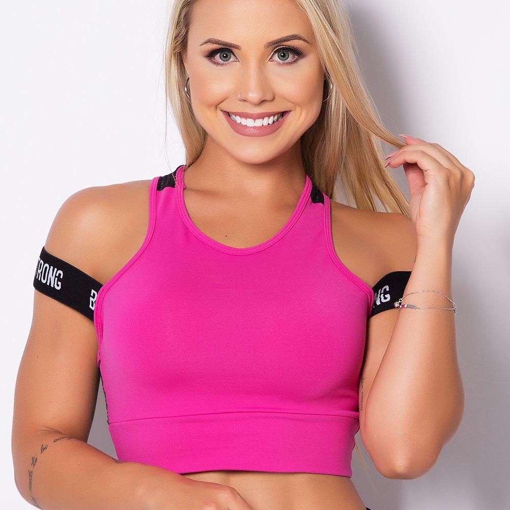 Top Fitness Tela Elastic Pink