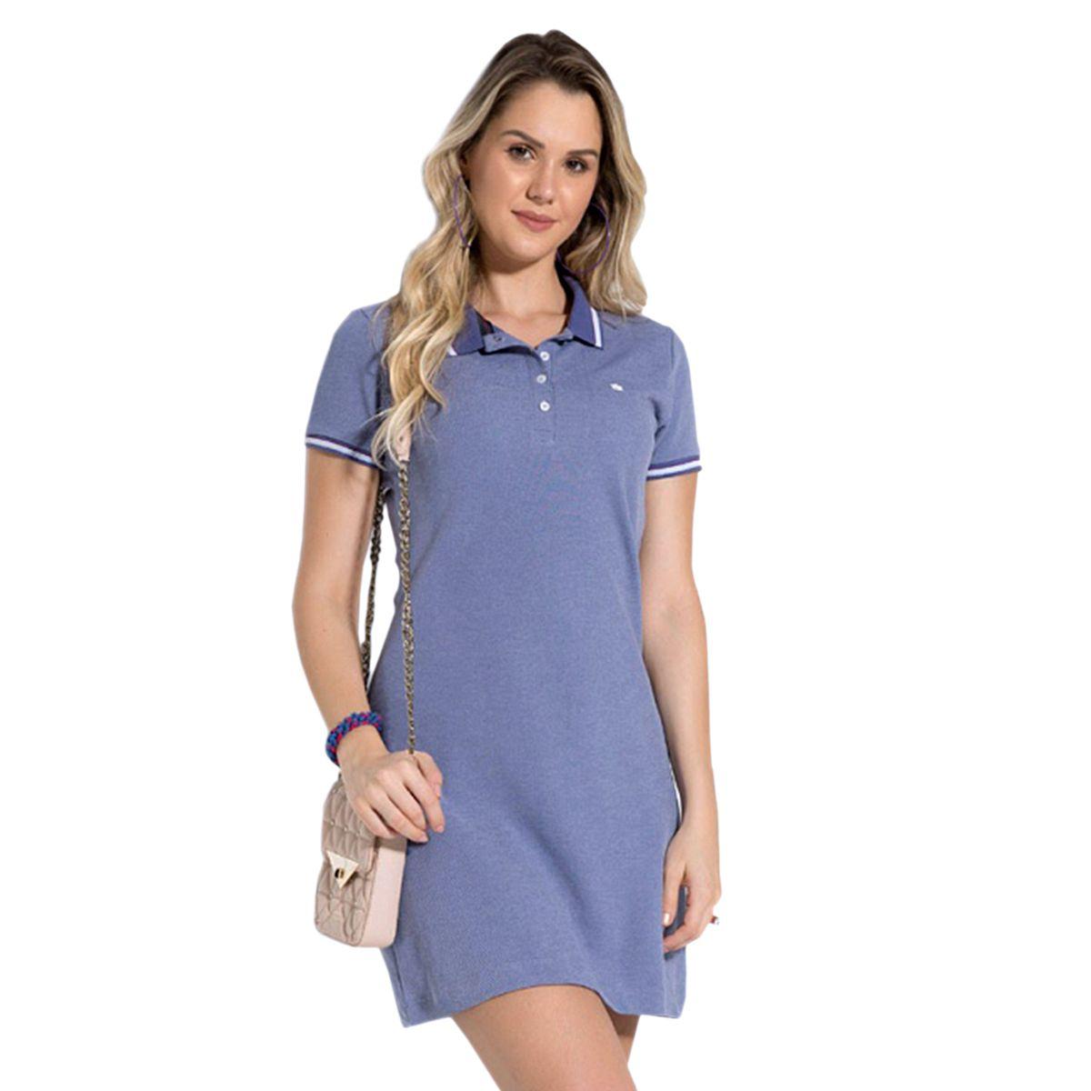 Vestido Polo Piquet Lilás