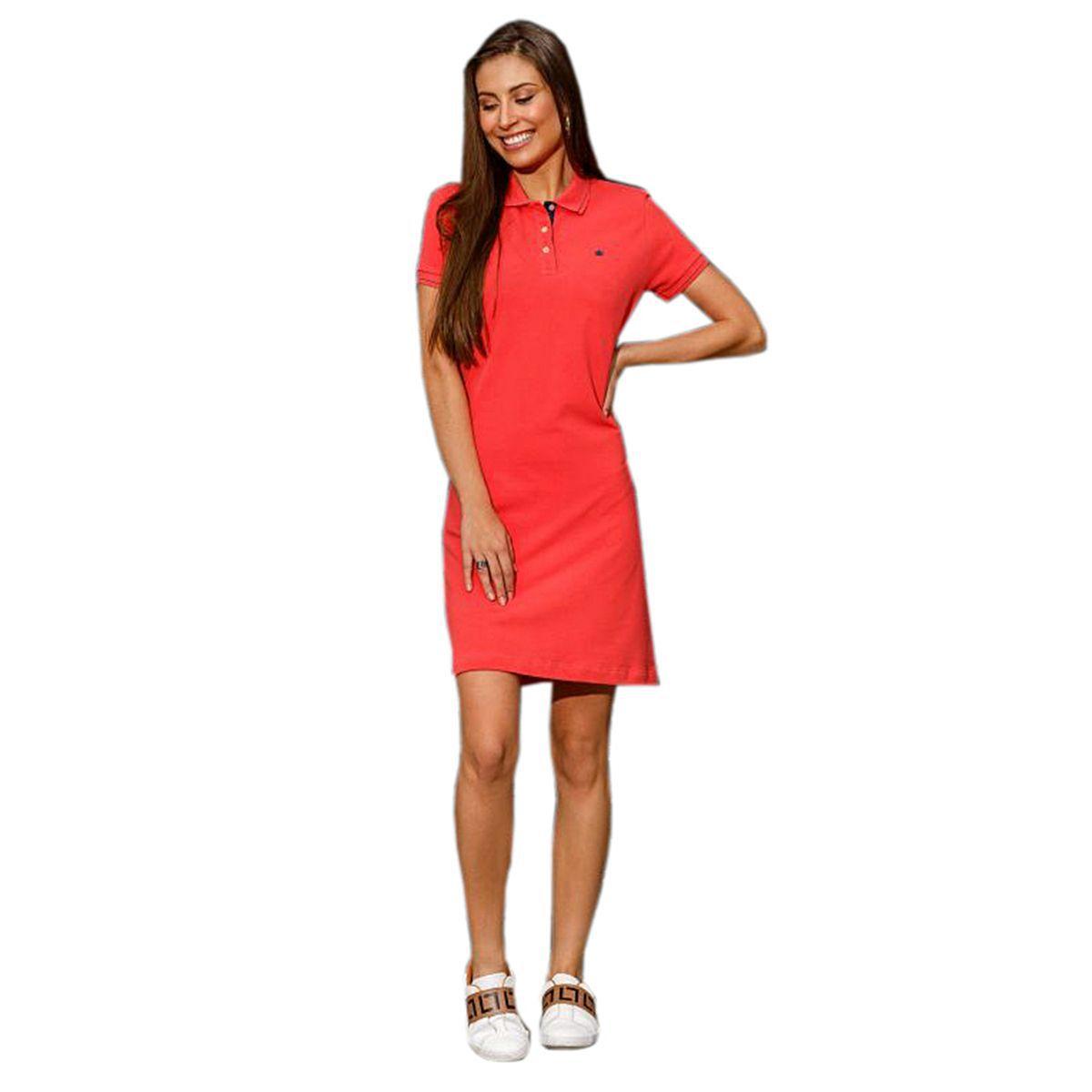 Vestido Polo Seeder Priquet Vermelho