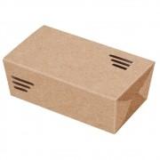 Embalagem para porções em papel kraft - Caixa pequena p/ 400g - 100 unidades
