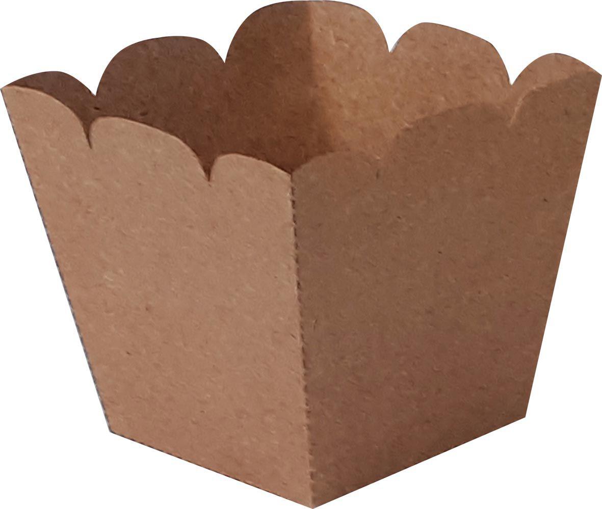 Embalagem caixa box balde para fast foot - Kraft - 50 unidades