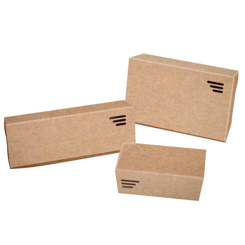 Embalagem para porções em papel kraft - Caixa média p/ 600g - 100 unidades