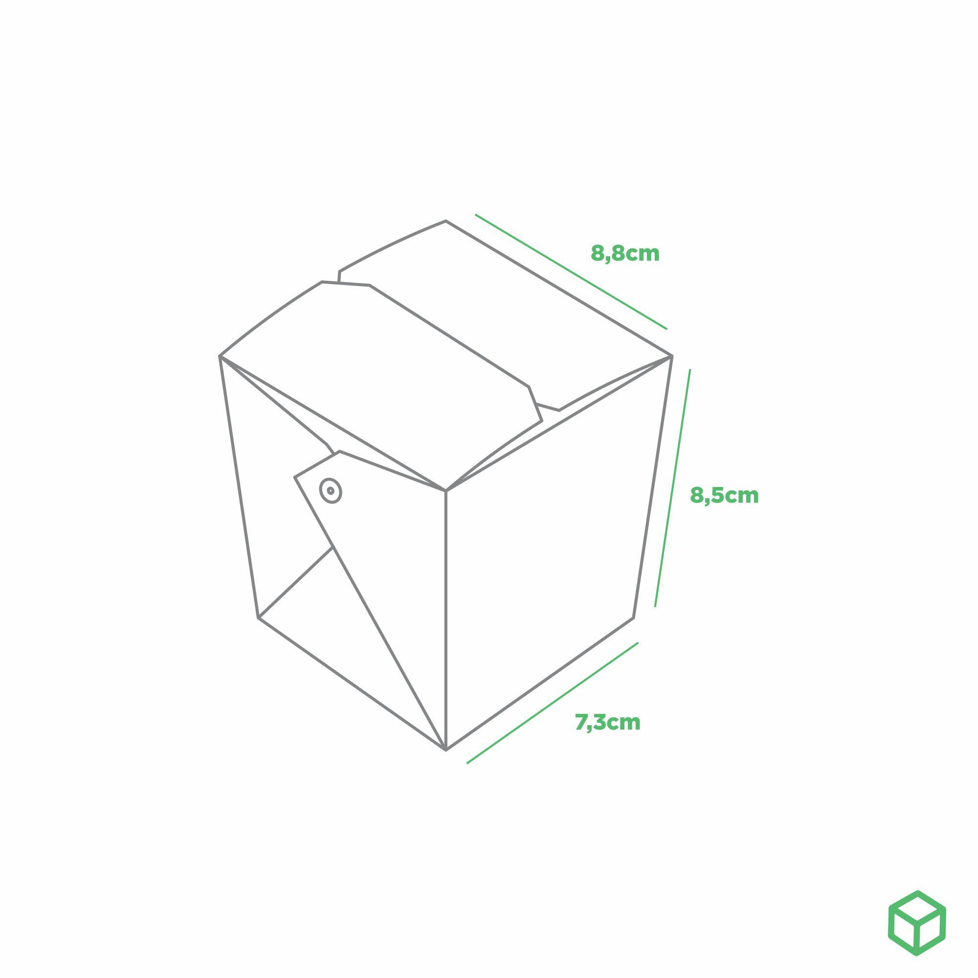 EMBALAGEM CAIXA BOX POSIBOX PEQUENA COM PRESILHA ORIENTAL - DOURADO - ESPECIAL PARA VOCÊ - 100 UN