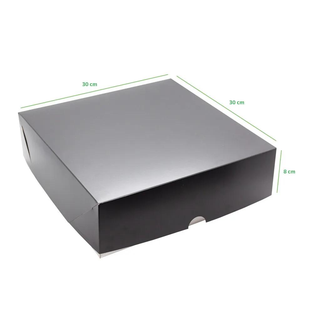 Caixa multiuso com tampa - 30x30cm - Linha Black - 50 unidades