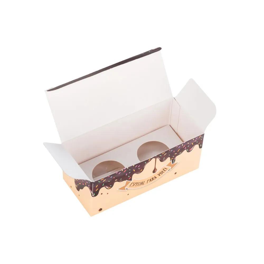 Embalagem para doce com berço para 2 docinhos - Especial para você - 50 unidades