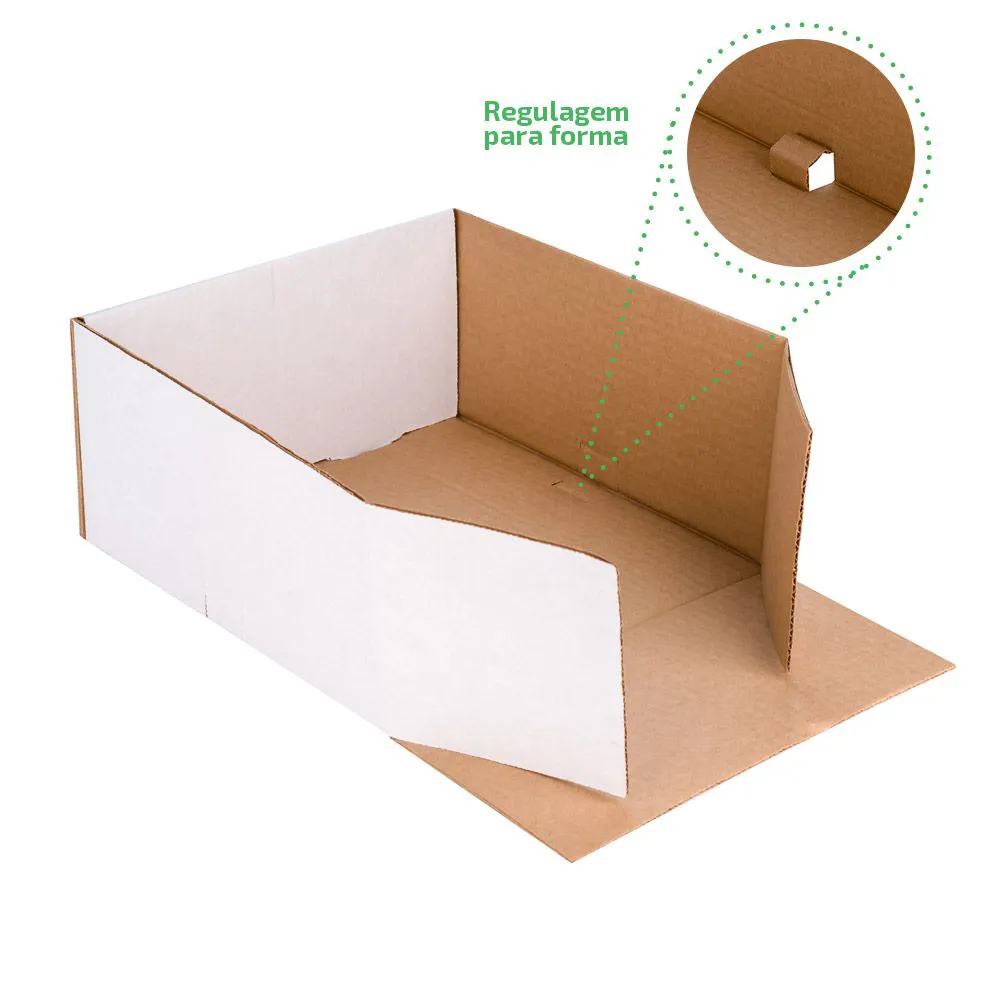 Embalagem para bolos e tortas com tampa - Tamanho médio - Especial para você - 25 unidades