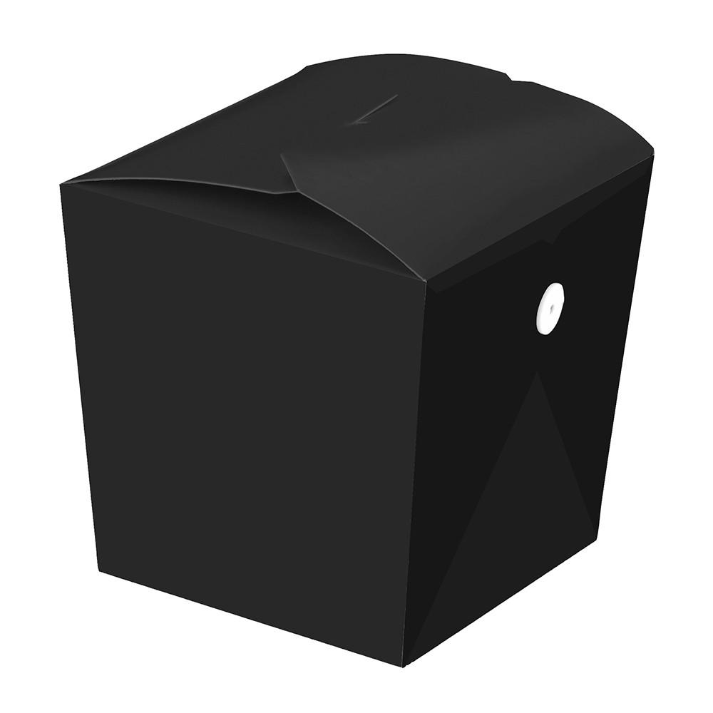 Embalagem box para yakissoba com fecho presilha - Linha black - 500ml  - 100 unidades