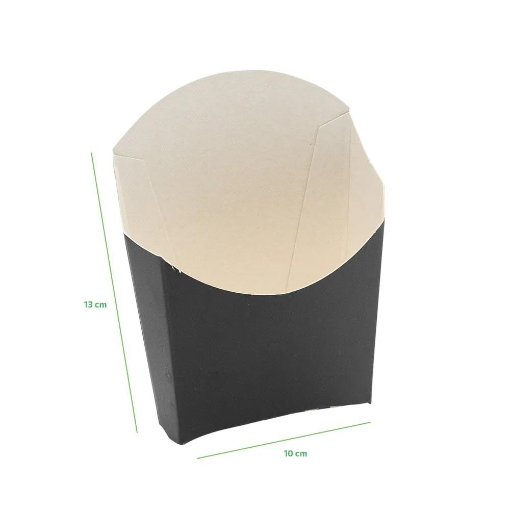 Embalagem para porção de batata frita - Linha black - 100 unidades