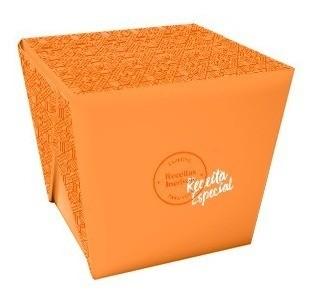Embalagem caixa box multiuso com encaixe - Tamanho G - Receita especial - 100 unidades