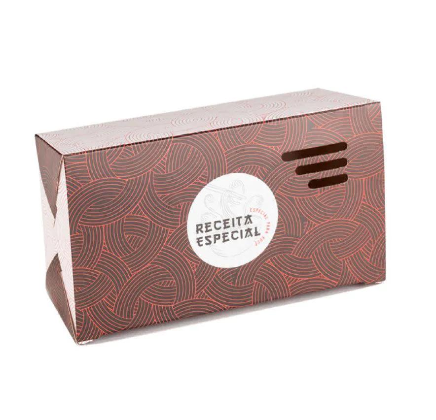 Embalagem caixa box para comida oriental - Tamanho G - Receita especial - Vermelha - 100 unidades