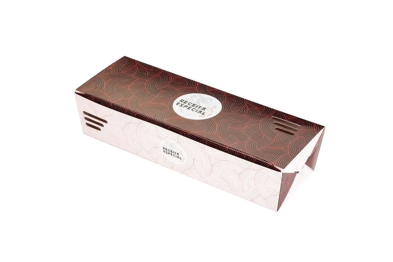 Embalagem caixa com respiro para comida oriental - Tamanho M - Receita especial - Vermelha - 100 unidades