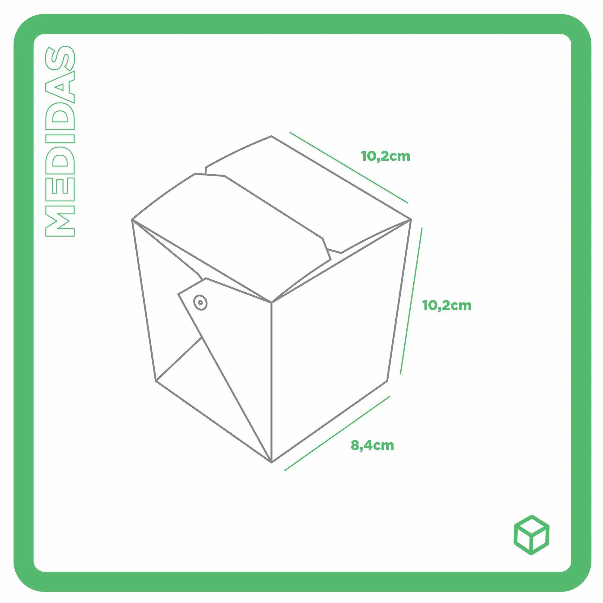 Embalagem caixa box com presilha para comida oriental - Tamanho M - Receita especial - Vermelho - 100 unidades