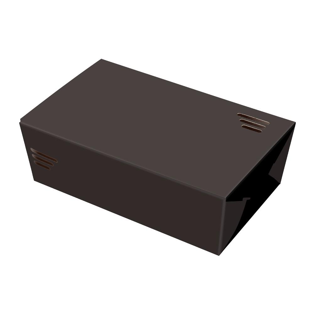 EMBALAGEM CAIXA GRANDE BOX POSIBOX FRITURA BLACK ORIENTAL - 100 UN