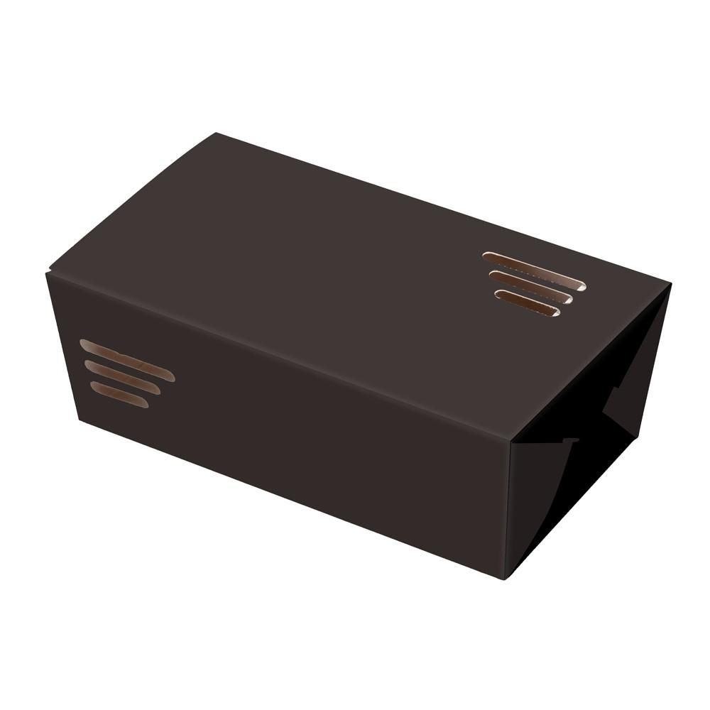 BOX FRITURA PEQUENO - LINHA BLACK - 100 UNIDADES