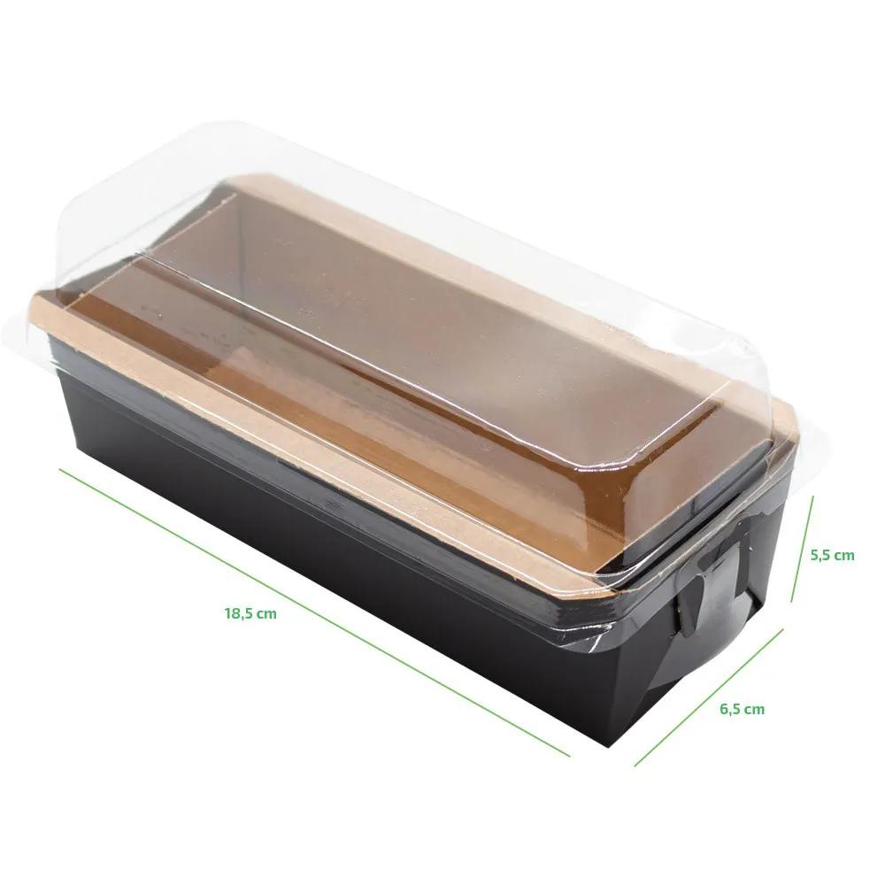 Forma forneável para bolo com tampa - Linha black - 100 unidades