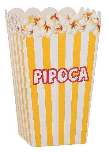 PIPOCA MEDIA AMARELA - 100 Un.