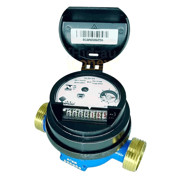 ded29a3399b Medidor   Relógio De Água Hidrometro Residencial 3 4 Elster ...