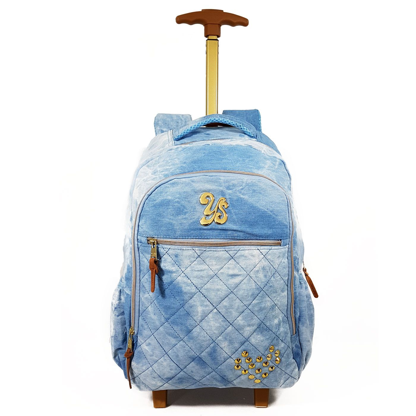 f4a451276 MOCHILA DE CARRINHO JEANS FEMININA YS SEANITE - MJ14025 - Classe Bag