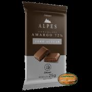 Alpes - Barra de Chocolate Amargo 72% Zero Açúcar 25g