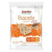 Jasmine - Biscoito Integral Gergelim e Linhaça 80g