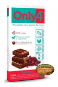 Only 4 Tablete Chocolate Cramberry 80g