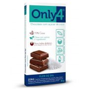 Only 4 - Tablete de Chocolate Flor de Sal 80g