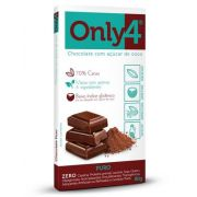 Only 4 - Tablete de Chocolate Puro 80g