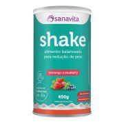 Sanavita - Shake sabor Morango e Blueberry 450g