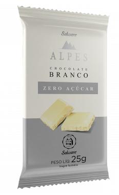 Alpes - Barra de Chocolate Branco Zero Açúcar 25g