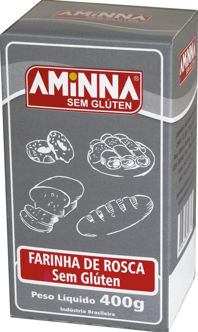Aminna - Farinha de Rosca sem Glúten 400g