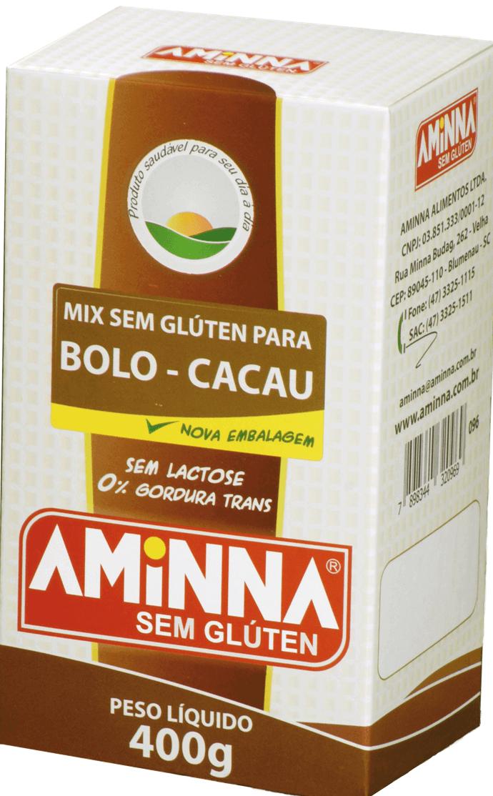 Aminna - Mix para Bolo de Cacau sem Glúten 400g