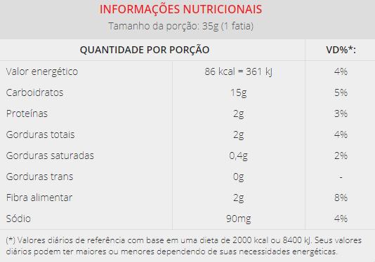 Aminna - Pão Integral Sem Glúten 450g ENTREGAS SOMENTE CURITIBA E REGIÃO