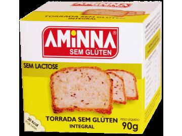 Aminna - Torrada Integral sem Glúten 90g