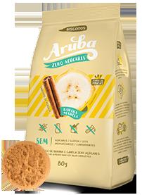 Aruba - Biscoito Banana Zero Açúcar 80g