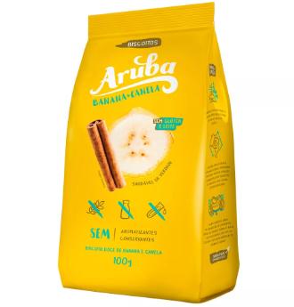 Aruba - Biscoito de Banana e Canela 100g
