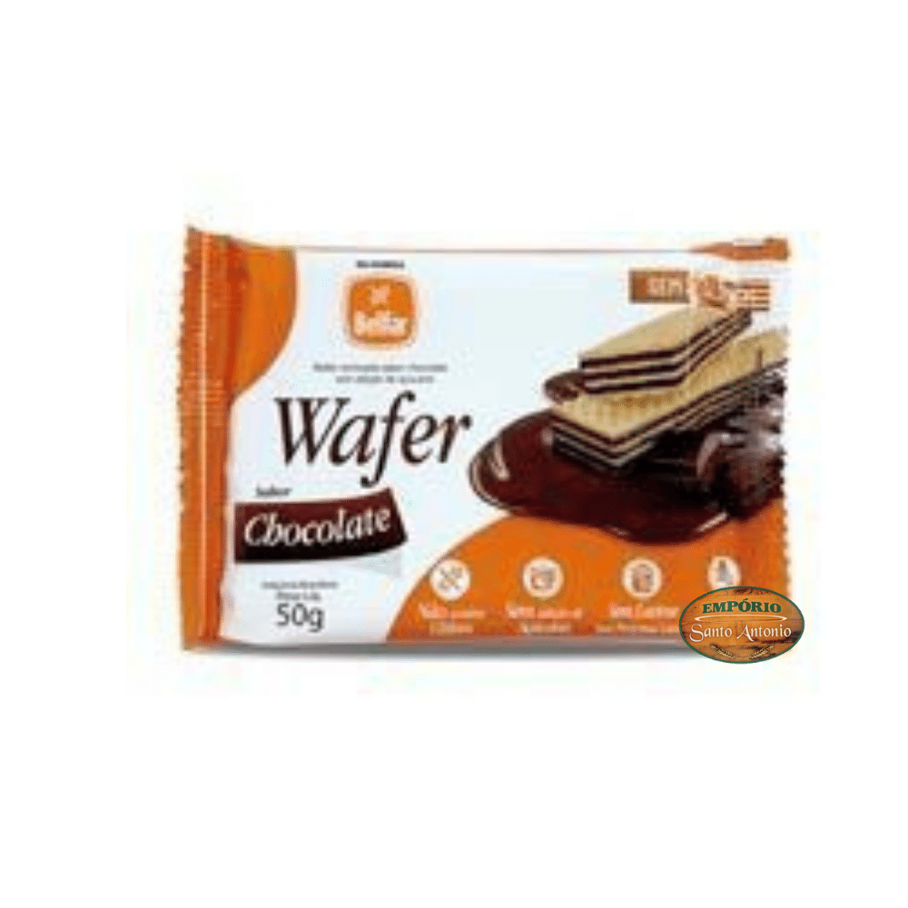 Belfar - Wafer recheado sabor Chocolate 50g