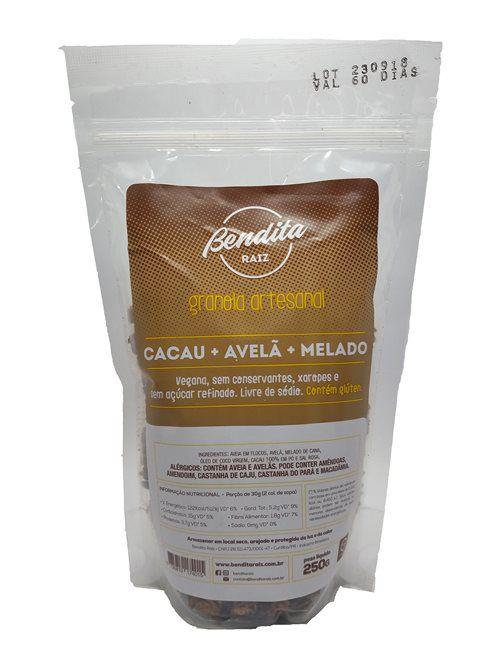 Bendita Raiz - Granola Artesanal Cacau, Avelã e Melado 250g