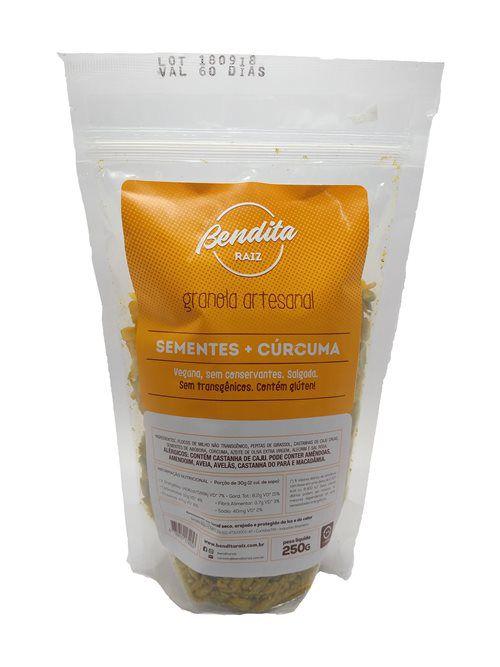 Bendita Raiz - Granola Artesanal, Sementes + Cúrcuma 250g