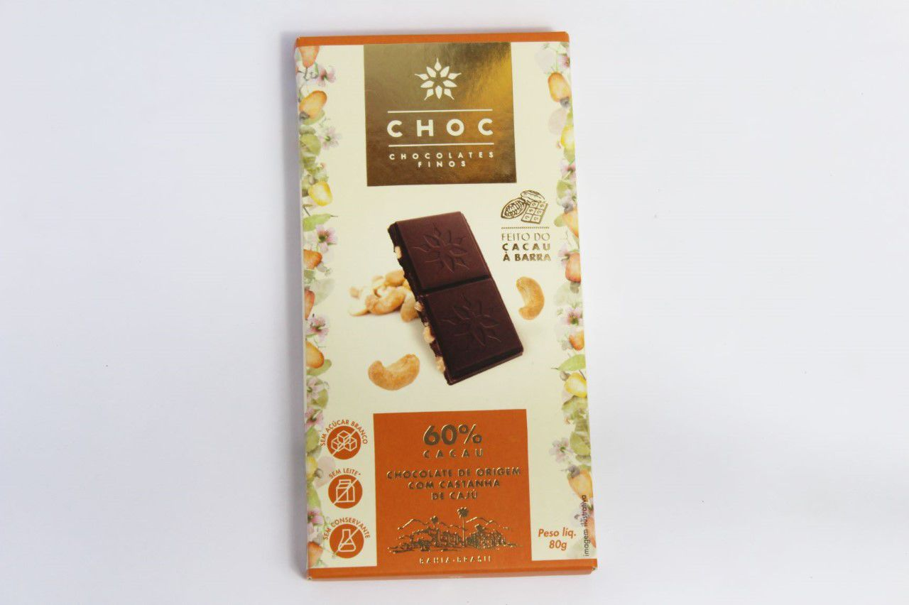 Choc - Chocolates Finos com Castanha de Caju 80g