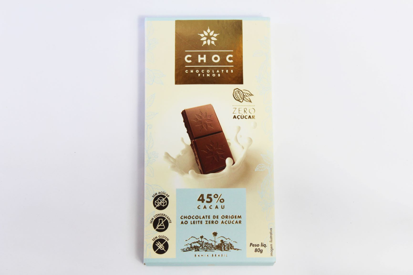 Choc - Chocolates Finos 45% Cacau 80g