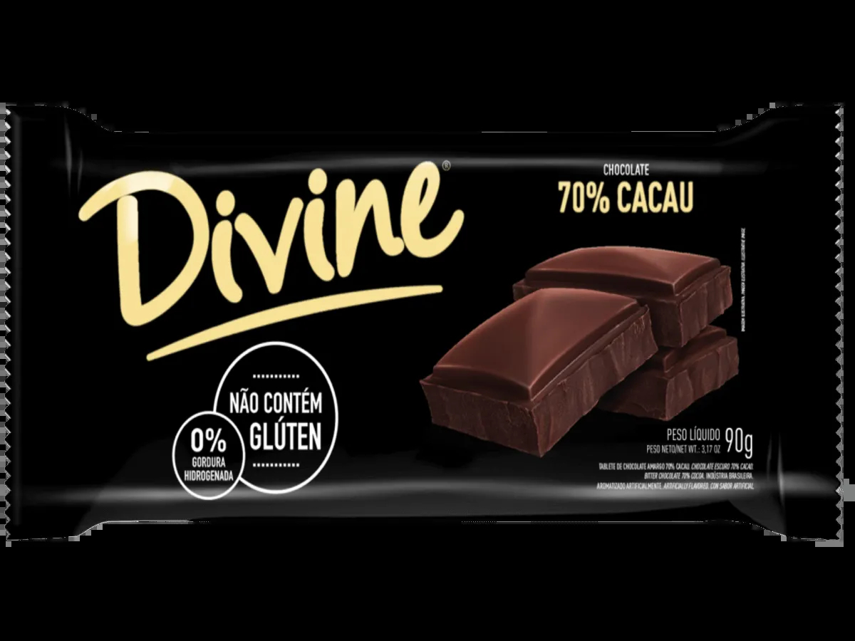 Divine- Chocolate 70% Cacau 90g